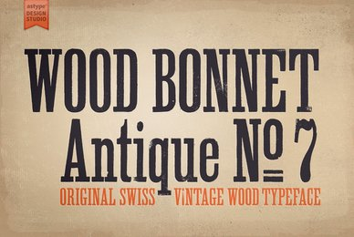 Wood Bonnet Antique No7