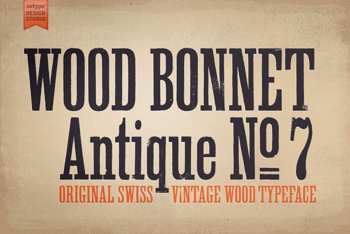 Wood Bonnet Antique No7