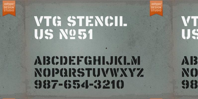 Vtg Stencil US No 51