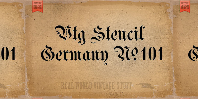 Vtg Stencil Germany No 101