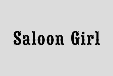 Saloon Girl