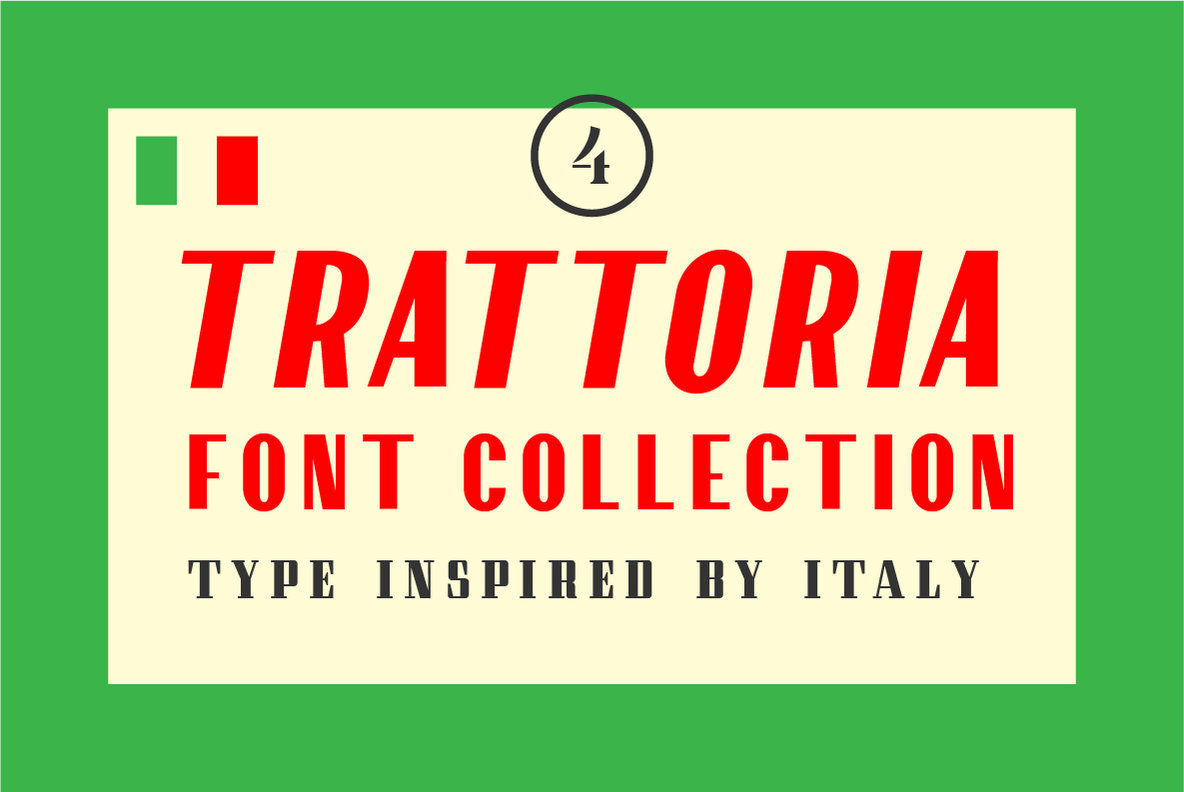 Trattoria Font Collection - Desktop Font  Webfont -7842