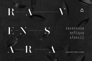 Ravensara Antiqua Stencil