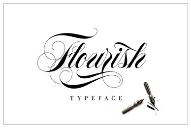 Flourish Typeface