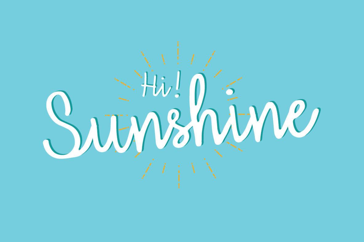 Hi Sunshine
