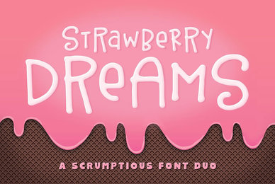 Strawberry Dreams Font Duo