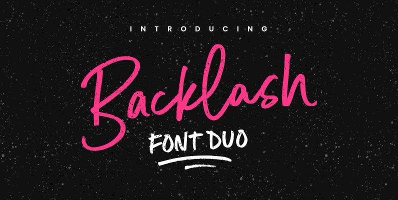 Backlash Font Duo