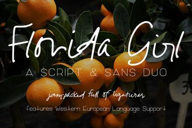 Florida Girl Script  Sans Duo