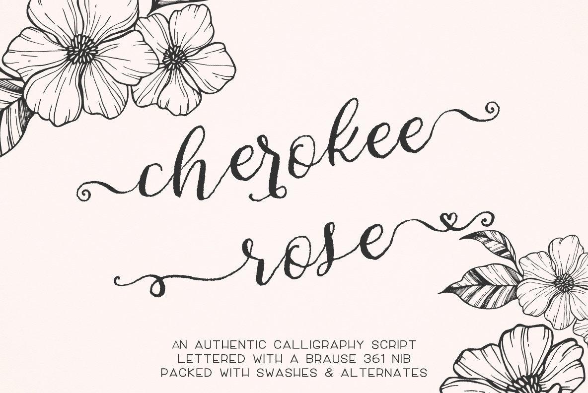 Cherokee Rose Calligraphy Script