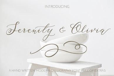 Serenity  Olivia Script Font