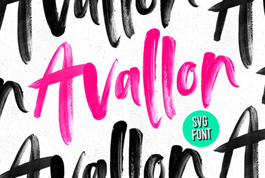 Avallon OpenSVG Font