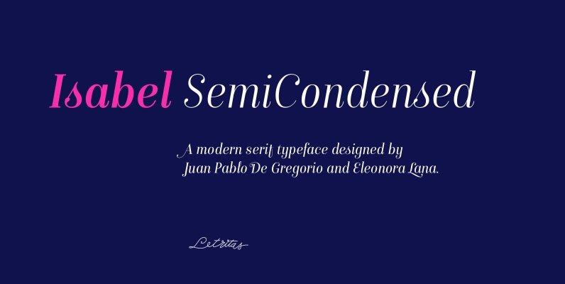 Isabel SemiCondensed