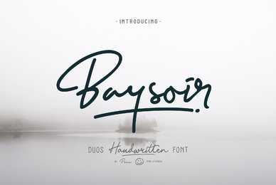 Baysoir Duo Handwritten Font