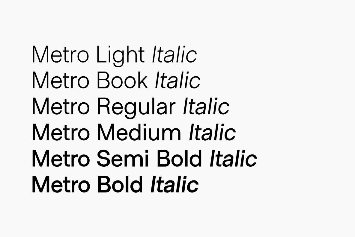 Metro Sans