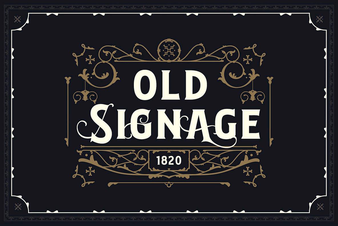 Bignord   Vintage Typeface