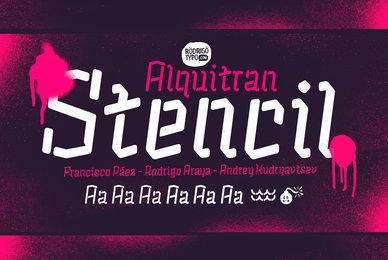 Alquitran Stencil