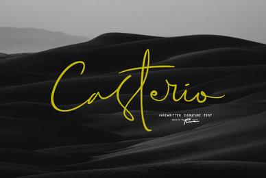 Casterio Signature Font