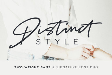 Distinct Style Font Duo