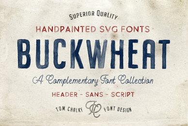 Buckwheat Opentype SVG Font Family
