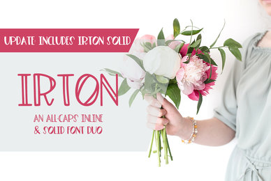 Irton Inline and Solid Font Duo