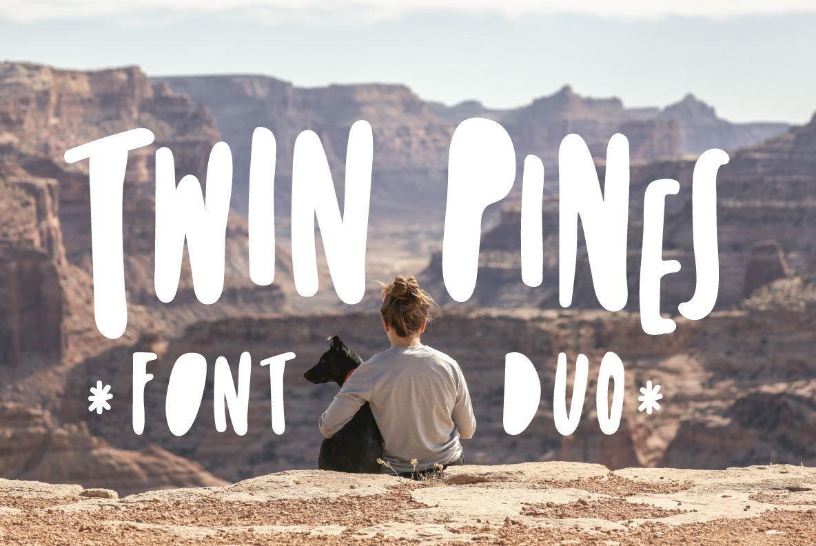 Twin Pines Font Duo