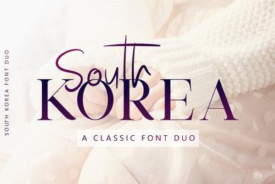 South Korea   Font Duo