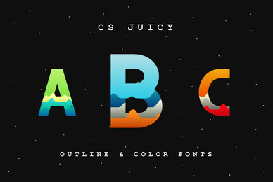 CS Juicy Color Font and Outline