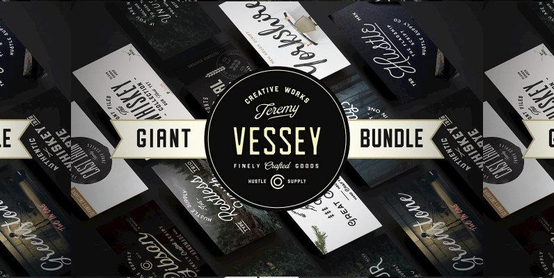 The Giant Bundle  50 Fonts