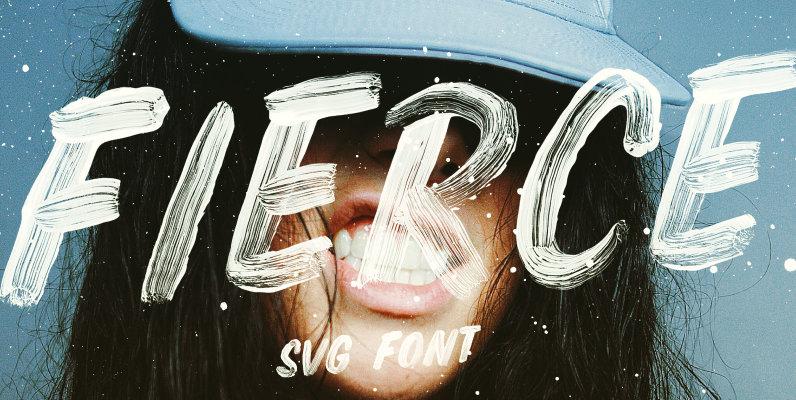 Fierce Font Opentype SVG Brush