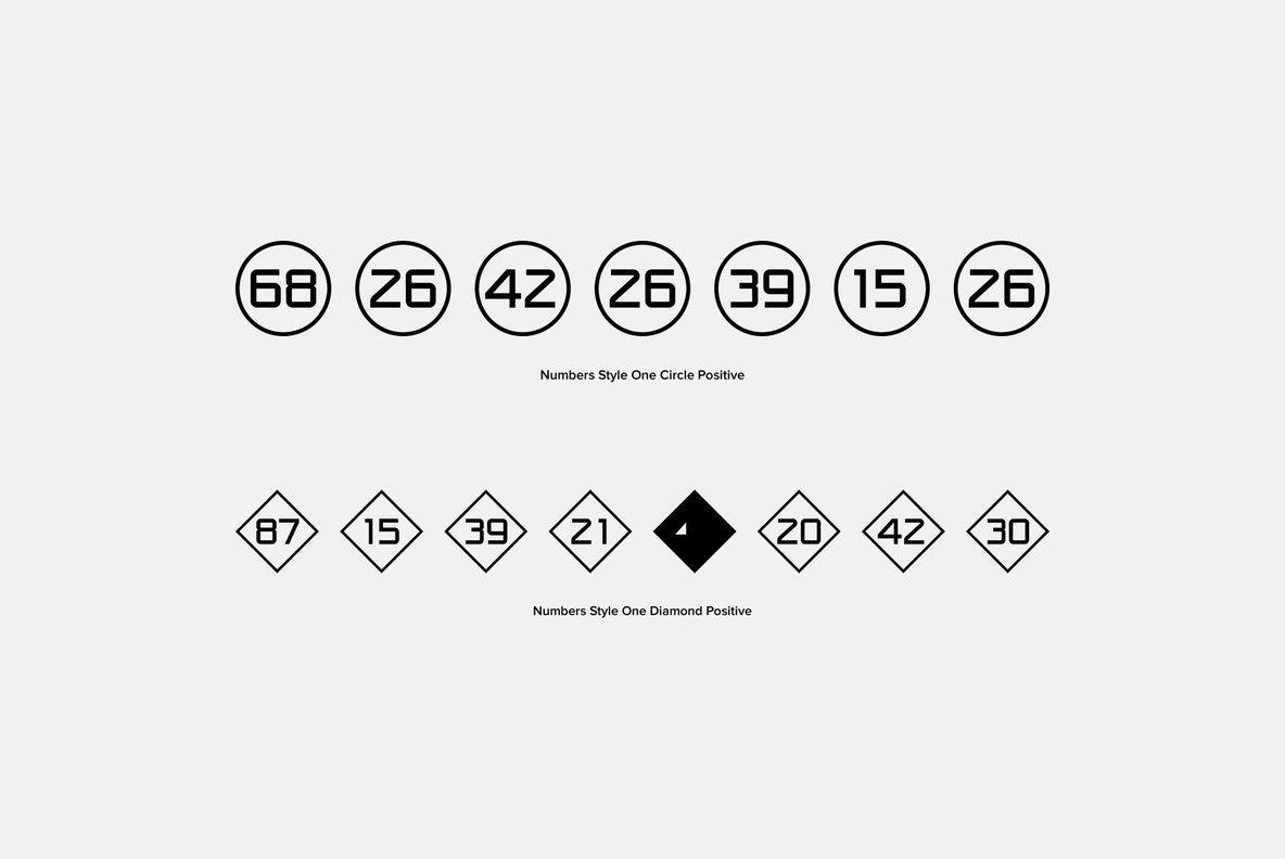 Numbers 0 99 Style One