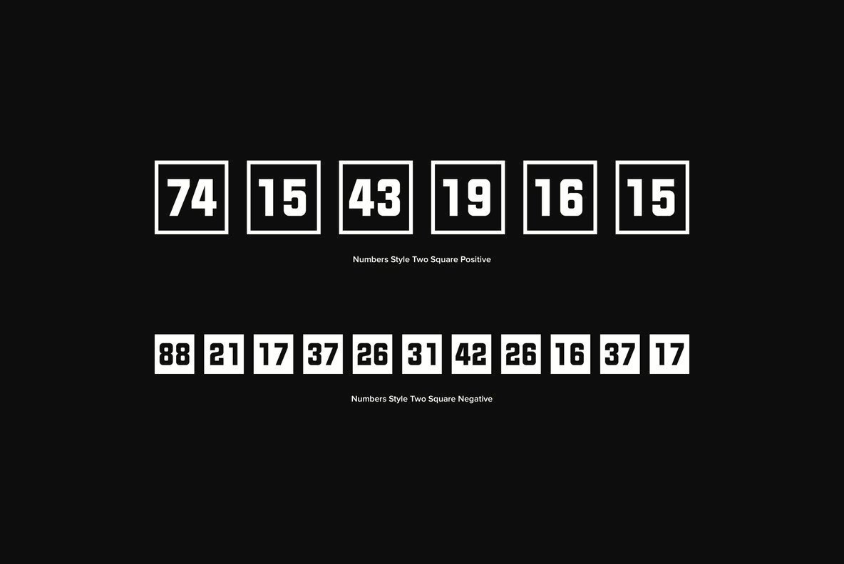 Numbers 0 99 Style Two