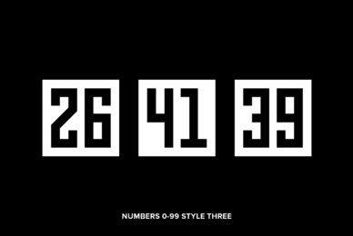 Numbers 0 99 Style Three