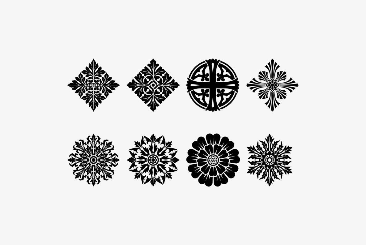 Rosette Ornaments