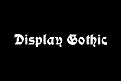 Display Gothic