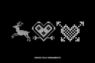Swiss Folk Ornaments