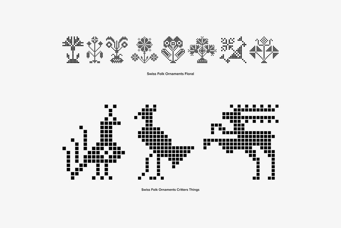 Swiss Folk Ornaments