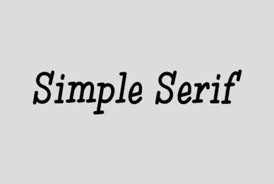 Simple Serif