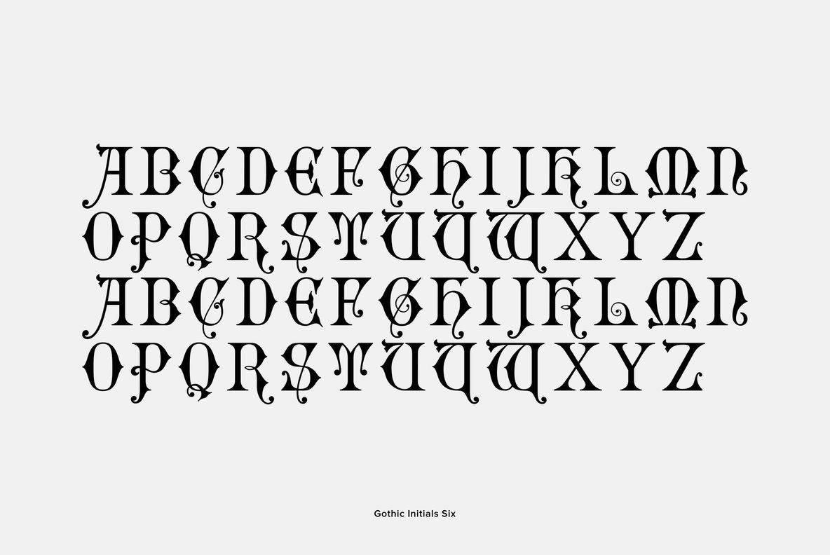 Gothic Initials