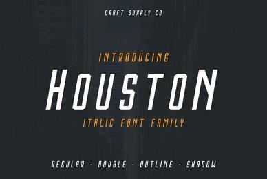 Houston Italic Font Family