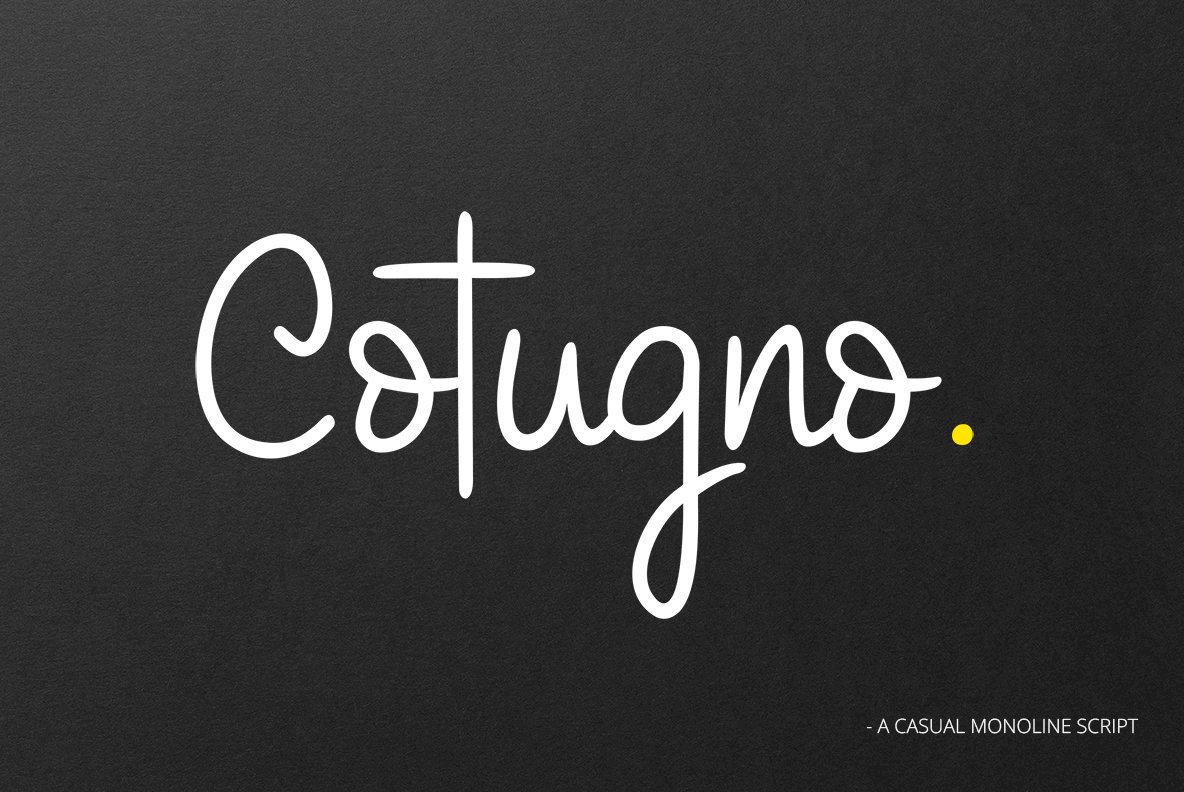 Cotugno script desktop font & webfont youworkforthem