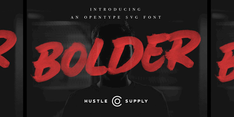 Bolder  SVG Brush Font