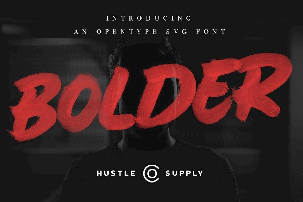 Bolder  SVG Brush Font