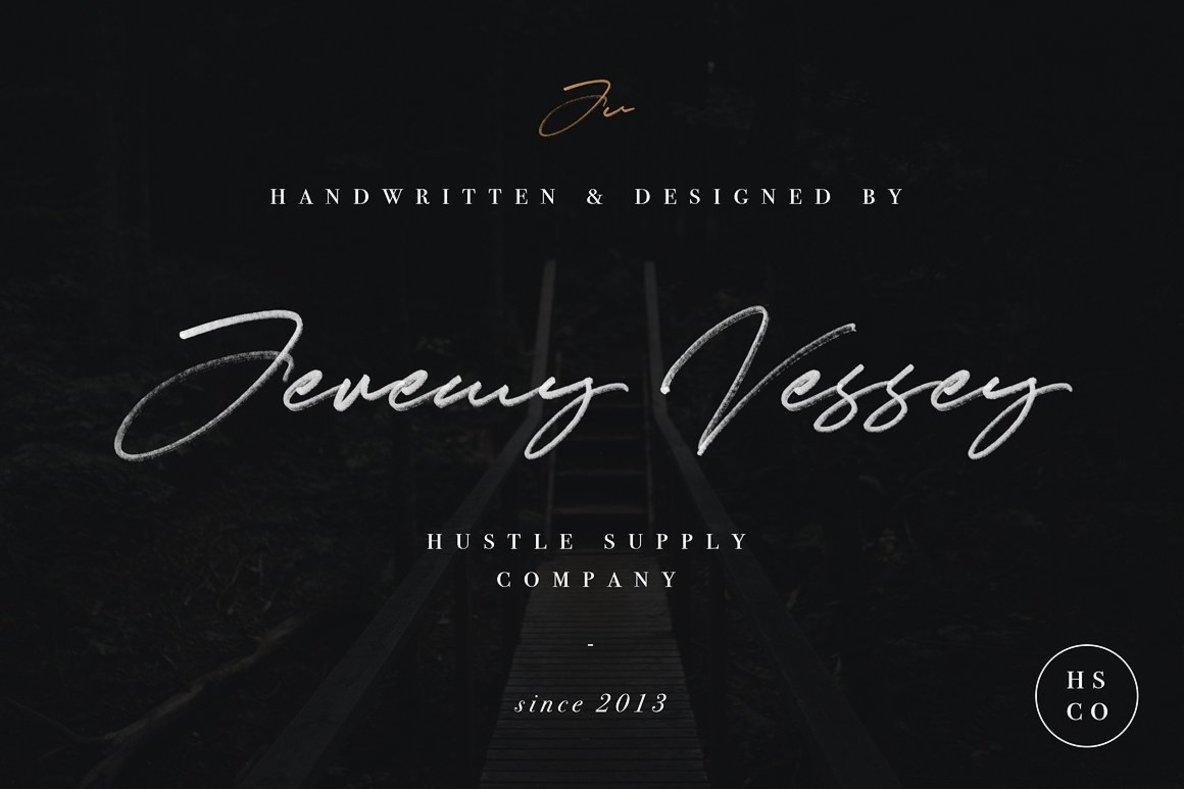 JV Signature  SVG Font