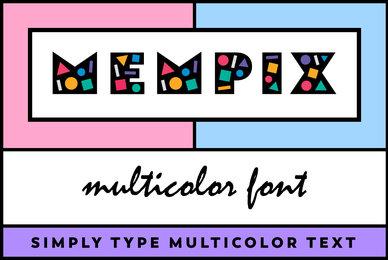 Mempix Multicolor Font