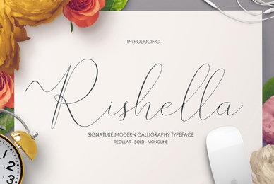 Rishella Signature Font