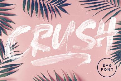 CRUSH SVG Font