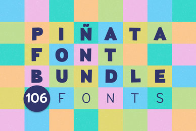 Pinata Font Bundle 106 Fonts
