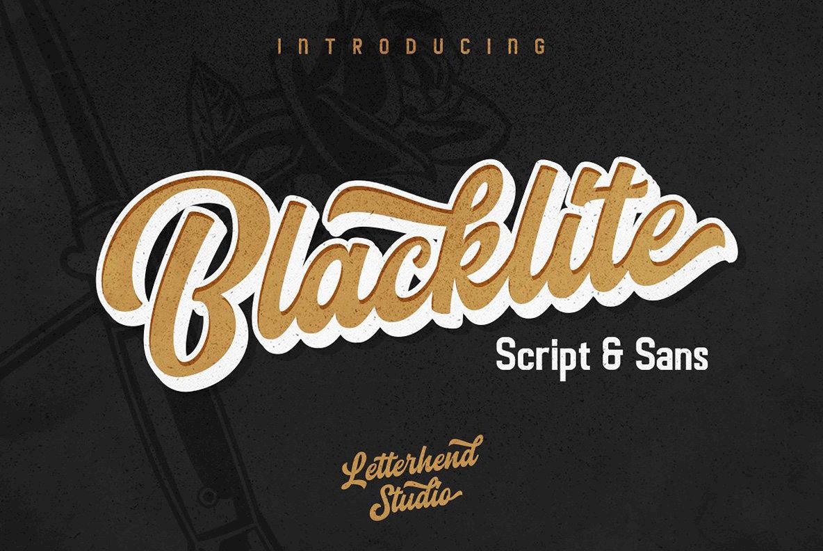 Blacklite Font Duo