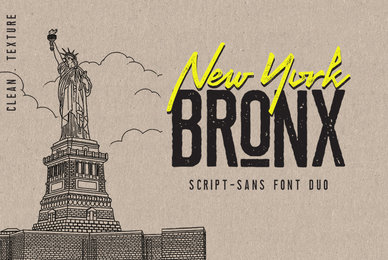 Bronx New York Font Duo