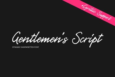 Gentlemens Script